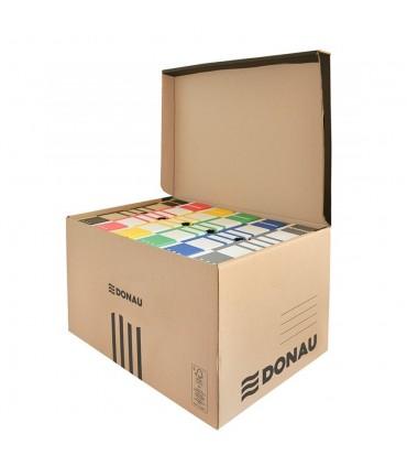 Container de arhivare cu capac deschidere superioara, negru/kraft, DONAU