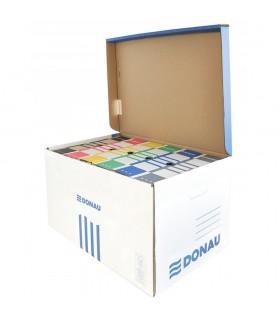 Container de arhivare cu capac deschidere superioara, albastru/alb, DONAU
