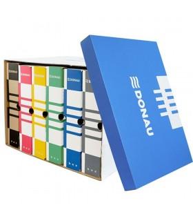 Container de arhivare cu capac detasabil, albastru/alb, DONAU