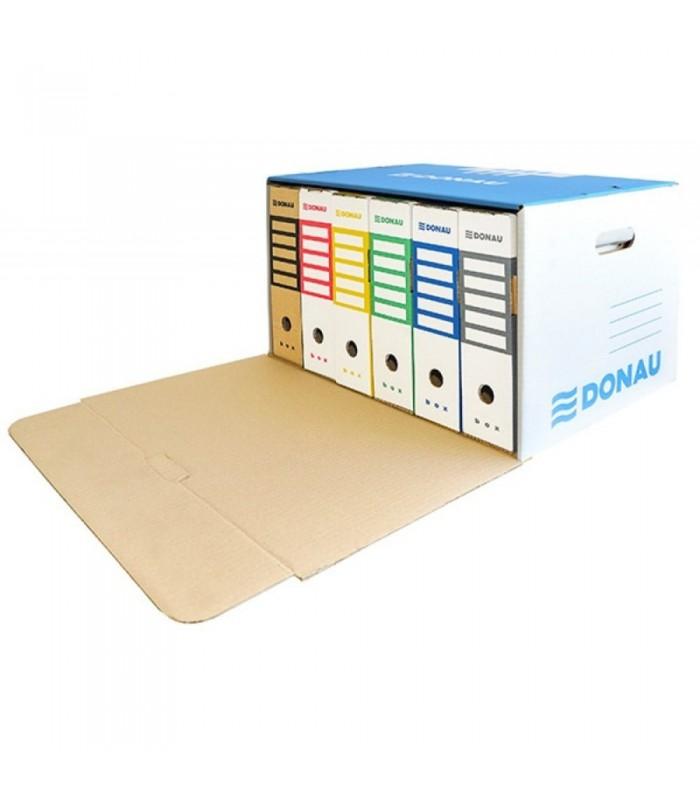 Container de arhivare cu capac deschidere frontala, albastru/alb, DONAU