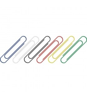 Agrafe birou color, 50 mm, 100 bucati/cutie, ALCO