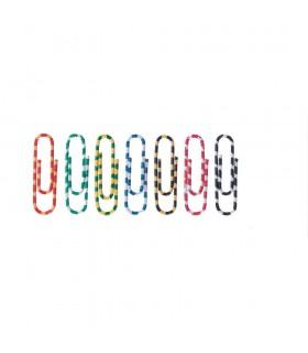 Agrafe birou color, 50 mm, 100 bucati/cutie, model Zebra ALCO