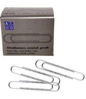 Agrafe nichelate 77 mm, ondulate, 100 buc/cutie, ALCO
