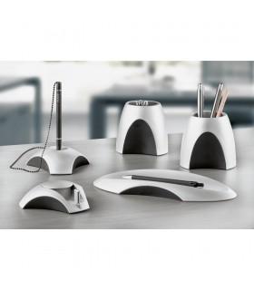 Dispenser magnetic pentru agrafe, argintiu/negru, model Delta HAN
