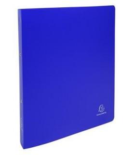 Caiet mecanic A4+ 2 inele 30 mm / 40 mm coperta flexibila Exacompta albastru