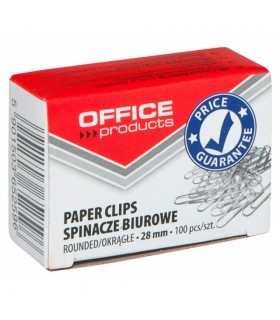 Agrafe birou metalice, 28 mm, 100 buc/cutie, OFFICE PRODUCTS