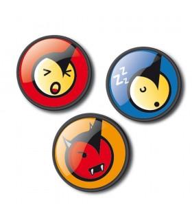 Insigne 3 buatic/set Roller NIKIDOM - Emoticonos Fun