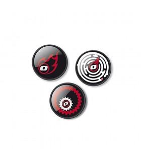 Insigne, 3 bucati/set, Roller NIKIDOM - Fire