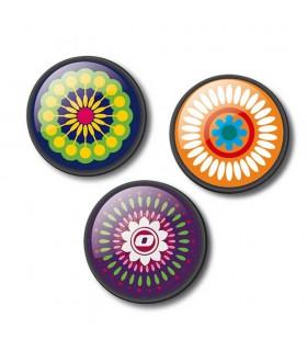 Insigne 3 bucati/set roller NIKIDOM - Mandala