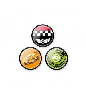 Insigne, 3 bucati/set, Roller NIKIDOM - Skate