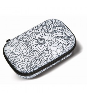 Penar cu fermoar, Color In Storage box - Big Flowers ZIPIT