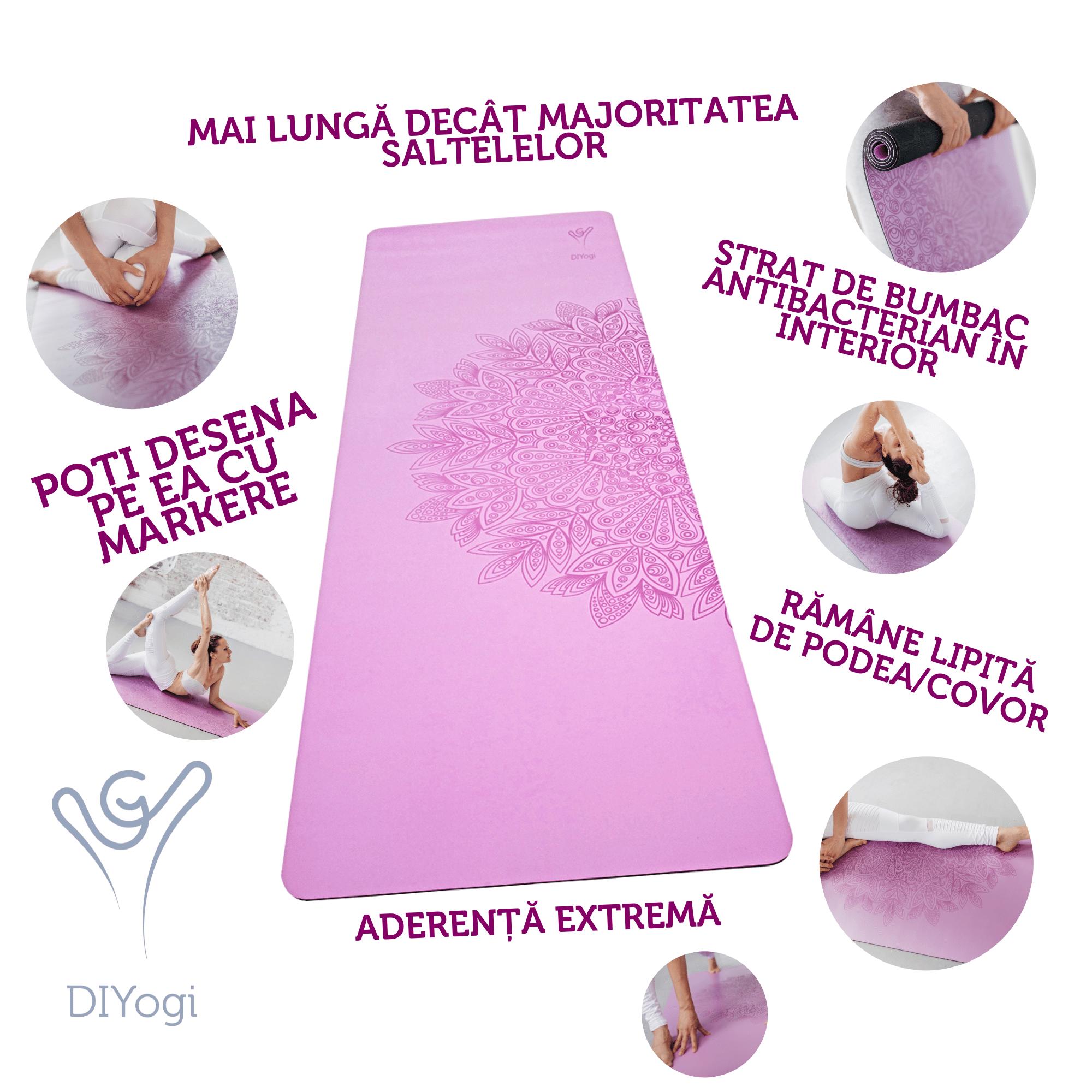 DIYogi Saltea Yoga Mov cu Mandala