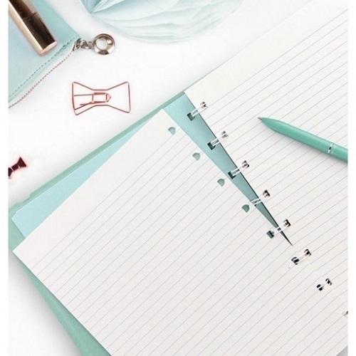 Agenda Notebook Classic Pastel cu spirala si rezerve A5 Duck Egg FILOFAX