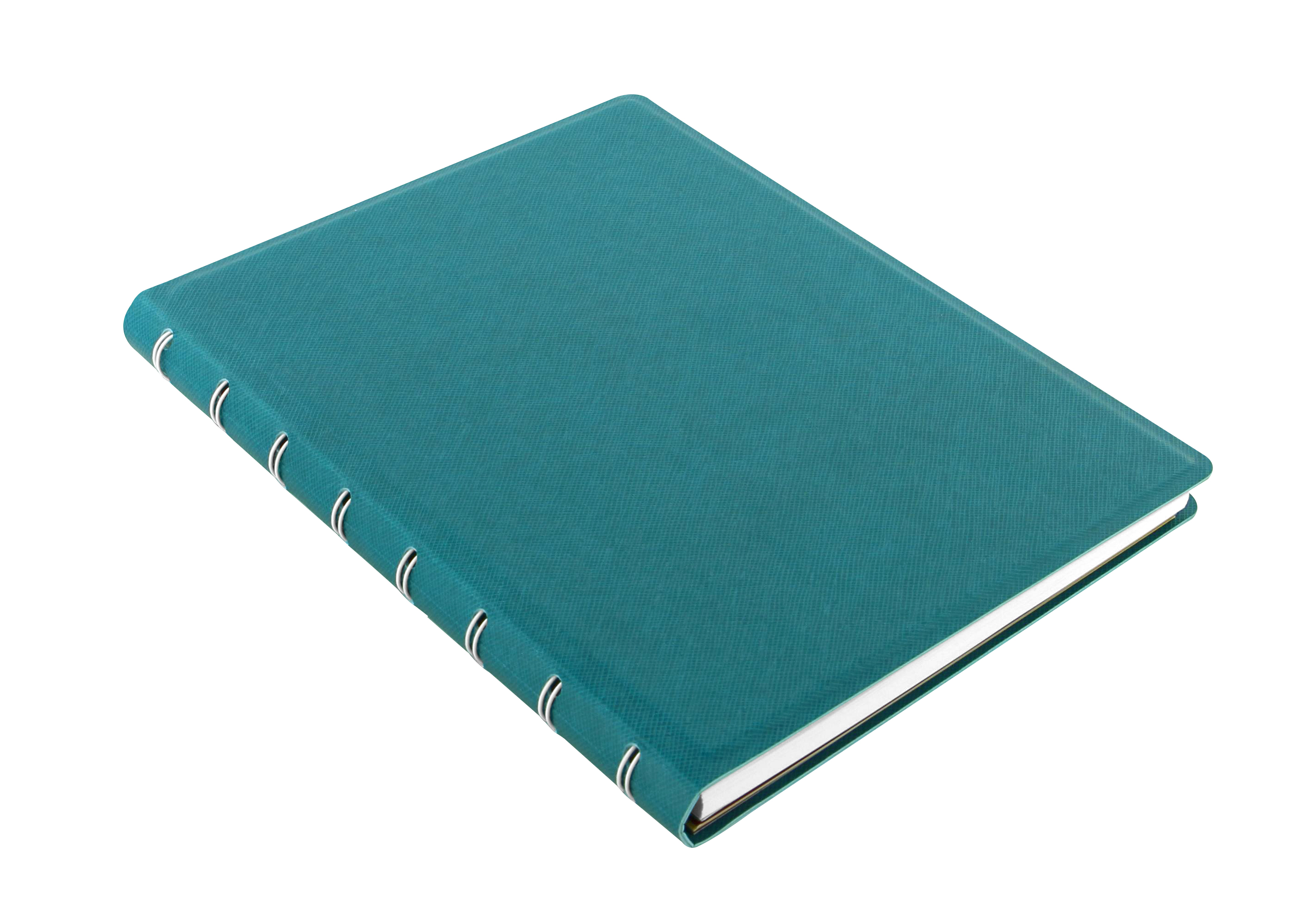 Agenda Notebook Saffiano A5 cu spirala si rezerve Aquamarine FILOFAX