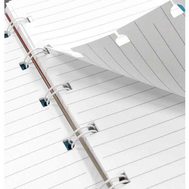 Agenda Notebook Saffiano cu spirala si rezerve A5 Bright Orange FILOFAX
