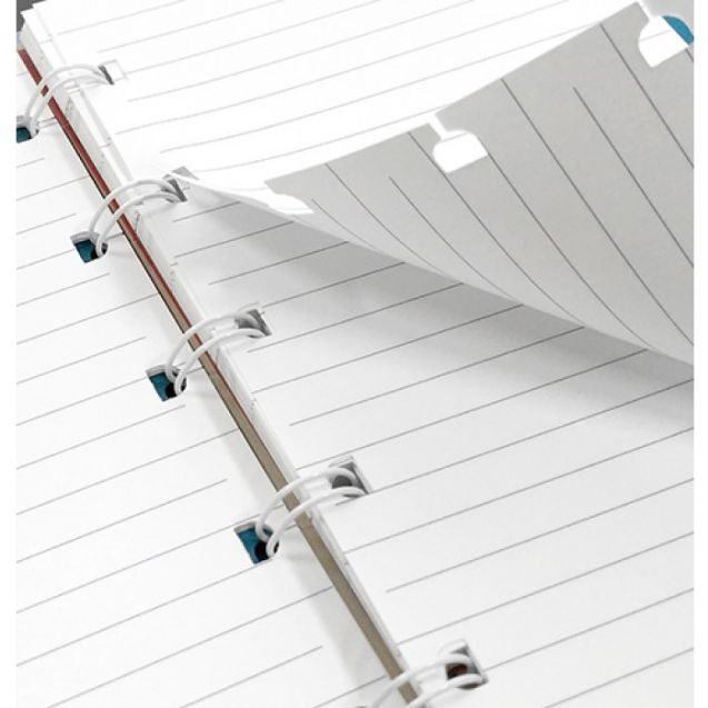 Agenda Notebook Saffiano Fluoro cu spirala si rezerve A5 Pink FILOFAX