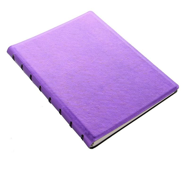 Agenda Notebook Saffiano Metallic cu spirala si rezerve A5 Violet FILOFAX