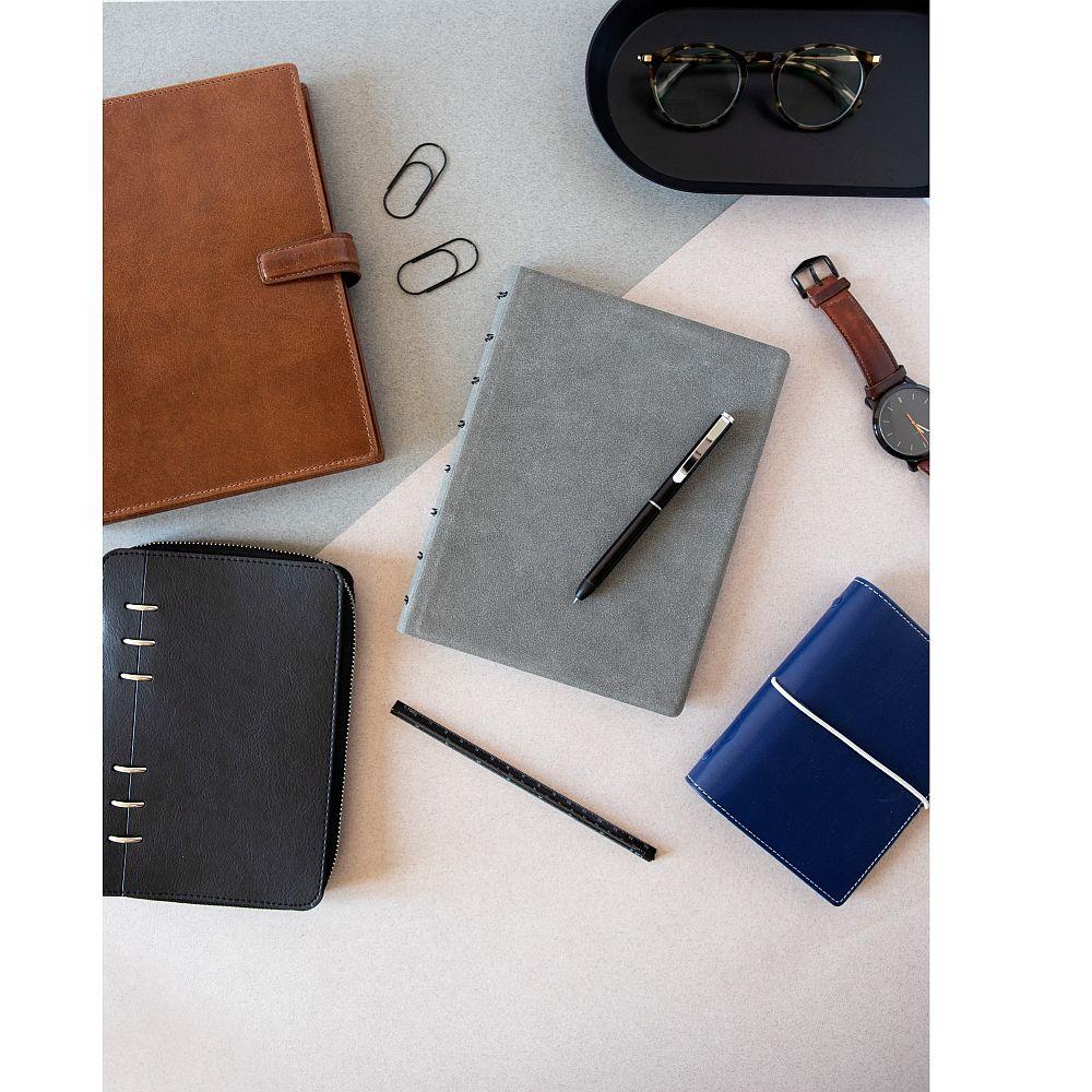 Agenda Notebook Architexture cu spirala si rezerve A5 Concrete FILOFAX