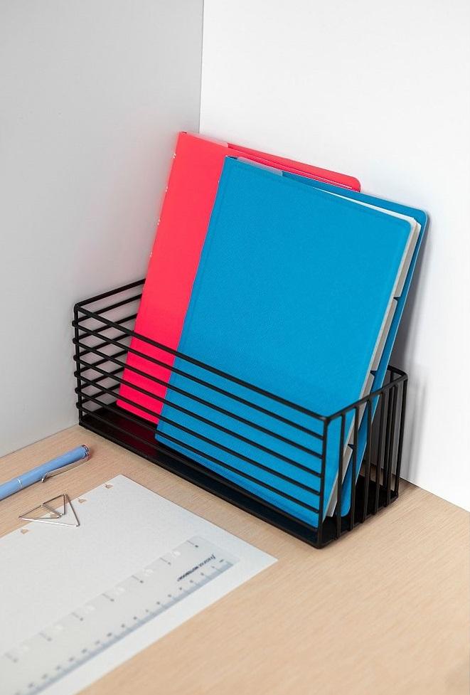 Agenda Notebook Saffiano Fluoro cu spirala si rezerve A5 Blue FILOFAX