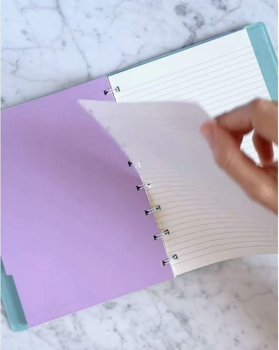 Agenda Notebook Classic Pastels cu spirala si rezerve A4 Duck Egg FILOFAX
