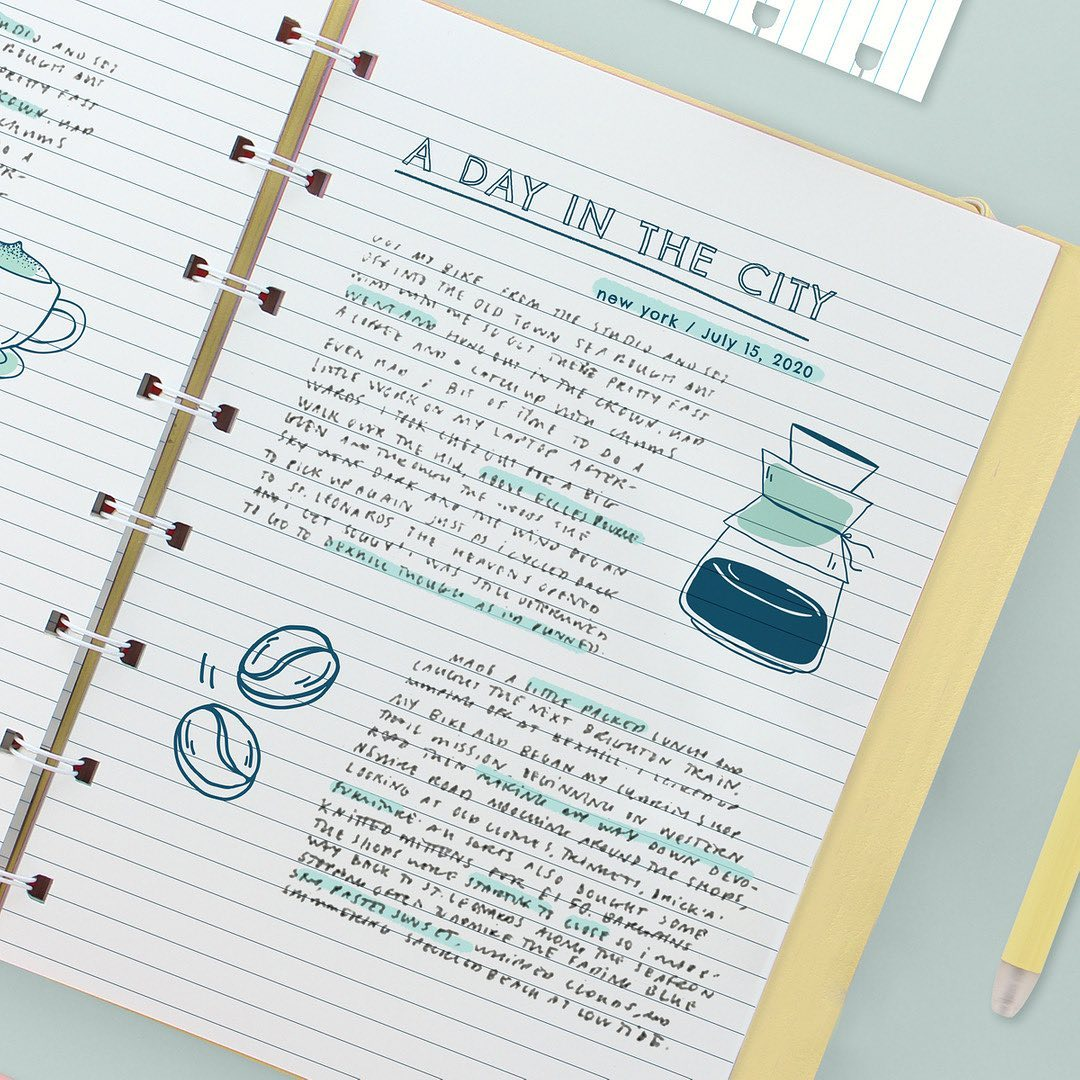 Agenda Notebook Classic Pastel cu spirala si rezerve A5 Lemon FILOFAX