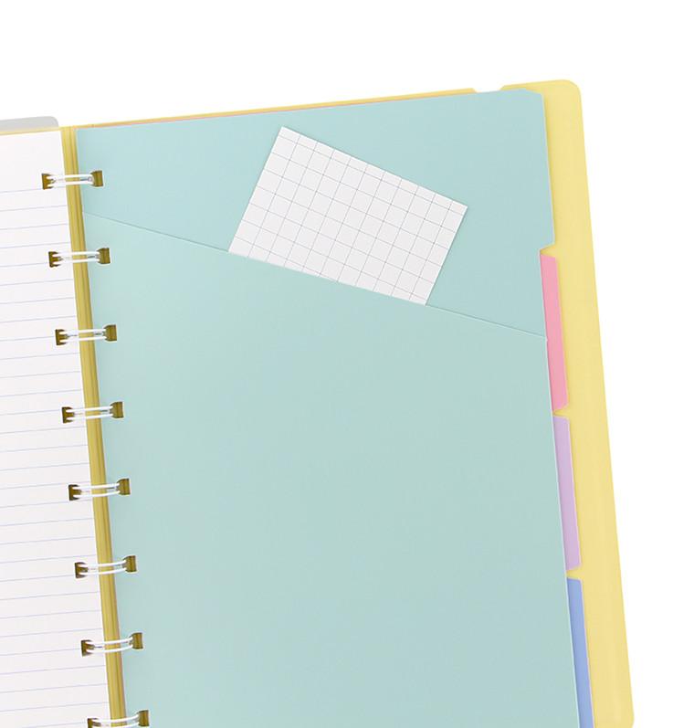 Agenda Notebook Classic Pastels cu spirala si rezerve A4 Lemon FILOFAX