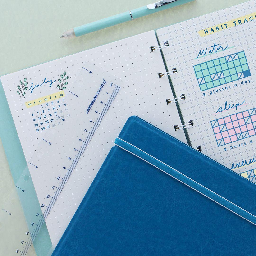 Agenda Notebook Classic Pastel cu spirala si rezerve A5 Vista Blue FILOFAX