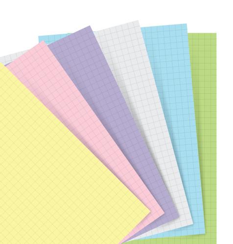 Rezerva hartie matematica 60 buc/set A5 compatibila cu Agendele Organiser si Clipbook-urile FILOFAX