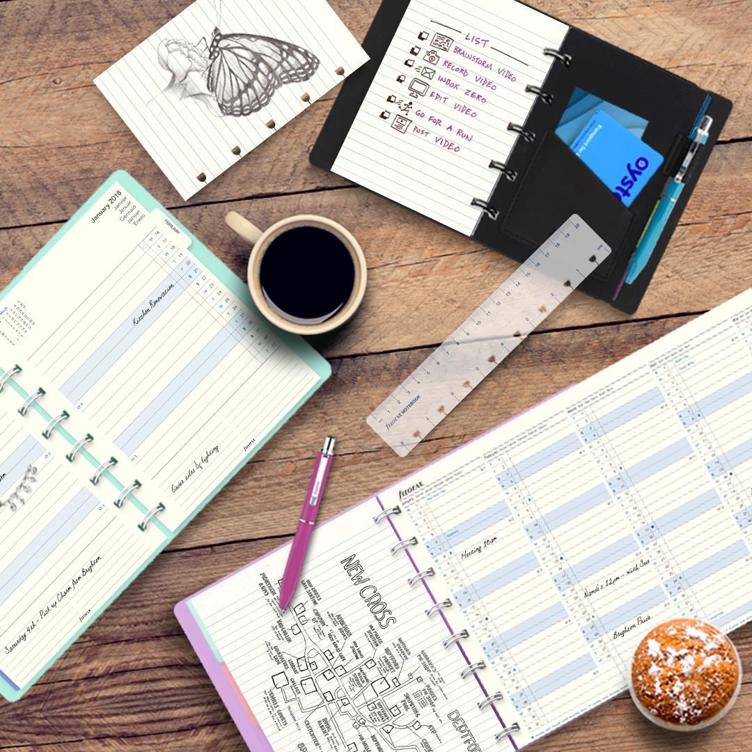 Rezerva hartie anuala A4, datata compatibila Notebook FILOFAX