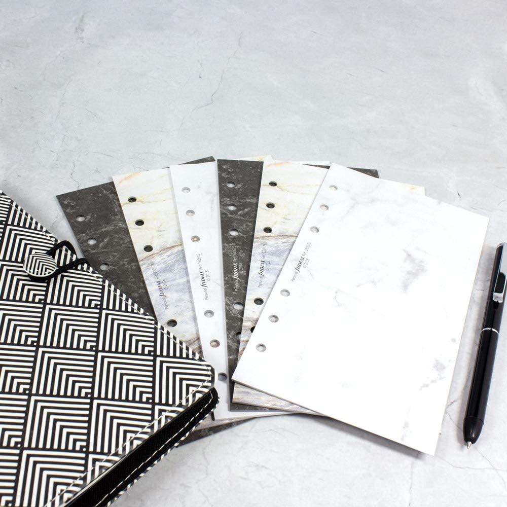 Rezerva hartie Personal, 95 x 171 mm, Marble Plain, compatibila cu Agendele Organiser si cu Clipbook-urile, Personal FILOFAX