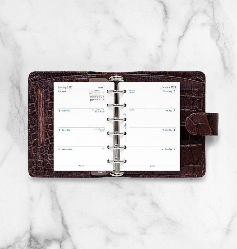 Rezerva hartie lunara Pocket, 64 buc/set datata compatibila Agendele Organiser si cu Clipbook-urile FILOFAX