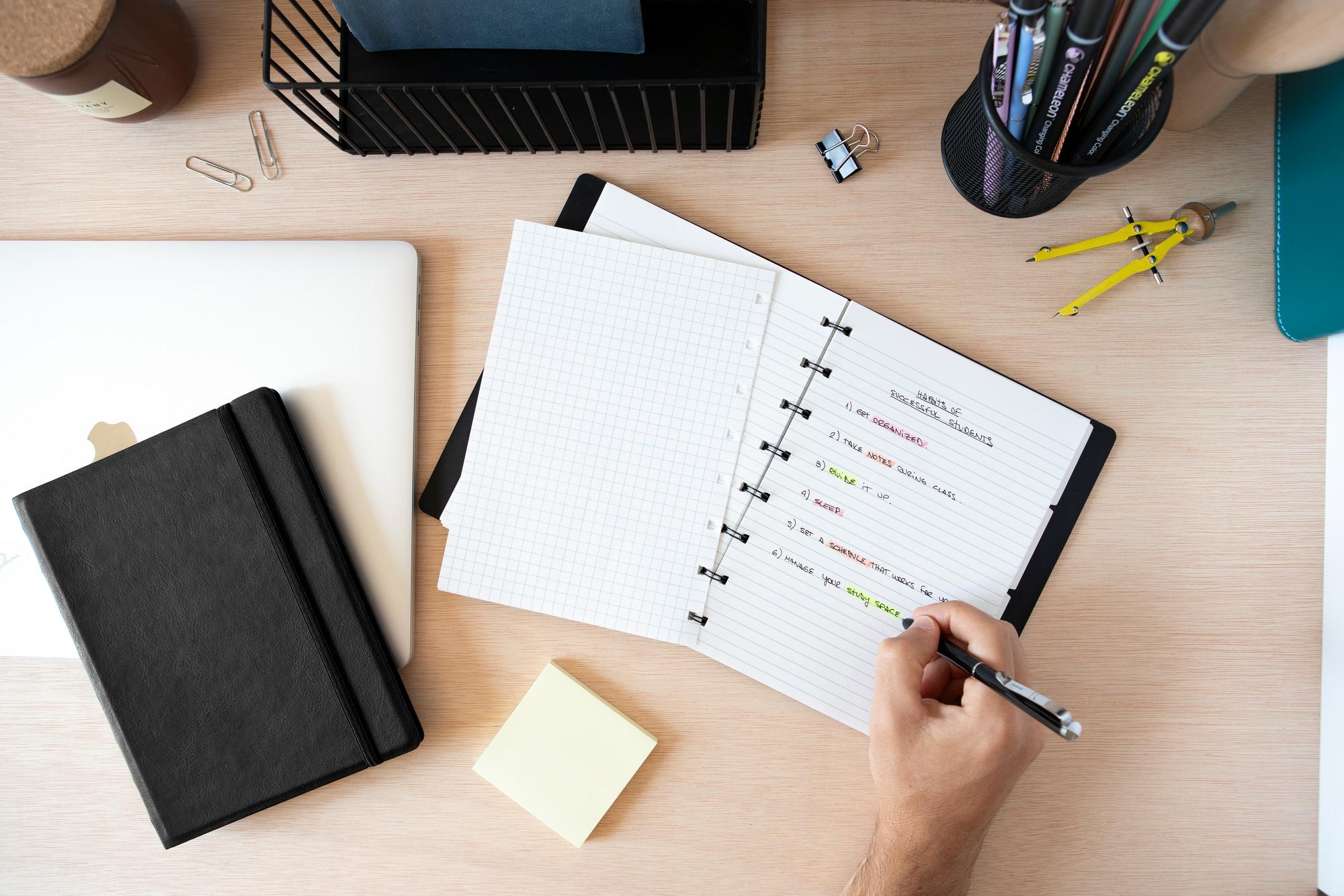 Rezerva hartie FILOFAX matematica 32 buc/set A5, compatibila Notebook Filofax