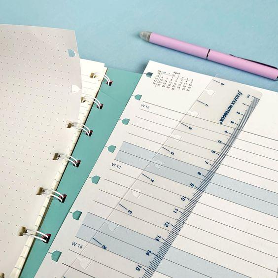 Rezerva hartie lunara, A5 datata compatibila Notebook FILOFAX