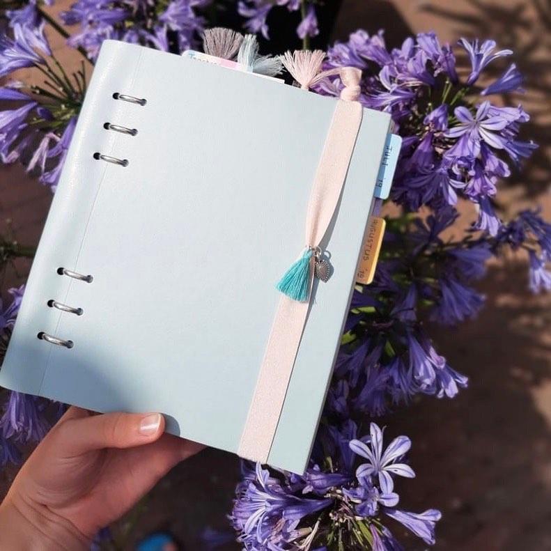 Agenda Clipbook Classic Pastels cu inel si rezerve A5 Duck Egg FILOFAX