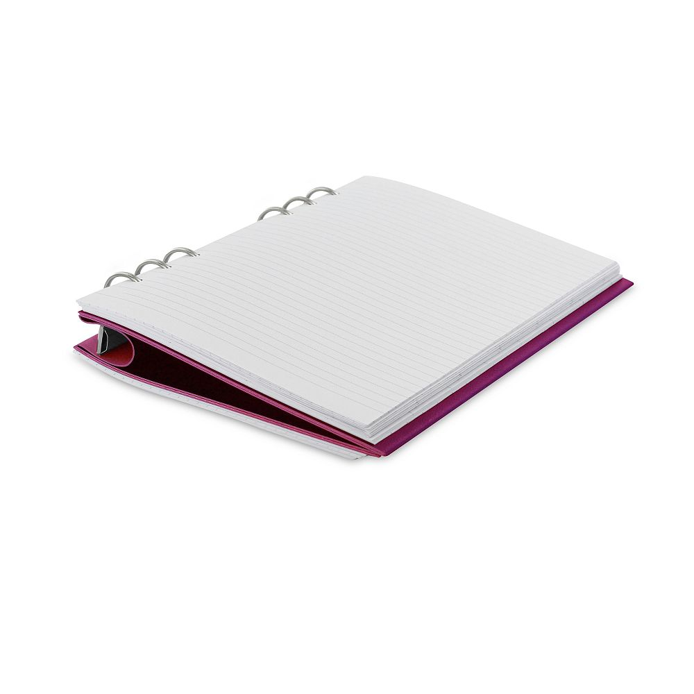 Agenda Clipbook Classic cu inel si rezerve A5 Fuchsia FILOFAX