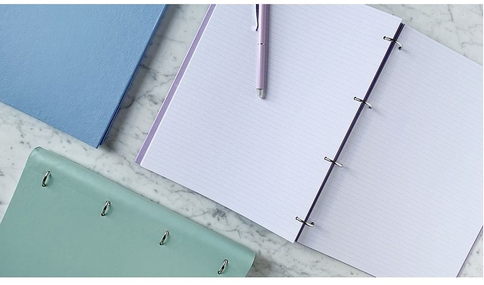 Agenda Clipbook Classic cu inel si rezerve A4 Orchid FILOFAX