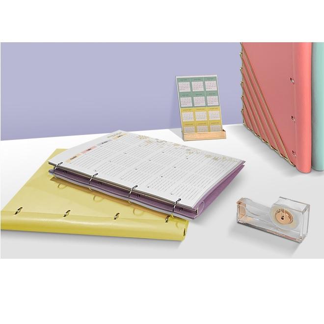Agenda Clipbook Classic cu inel si rezerve A4 Lemon FILOFAX