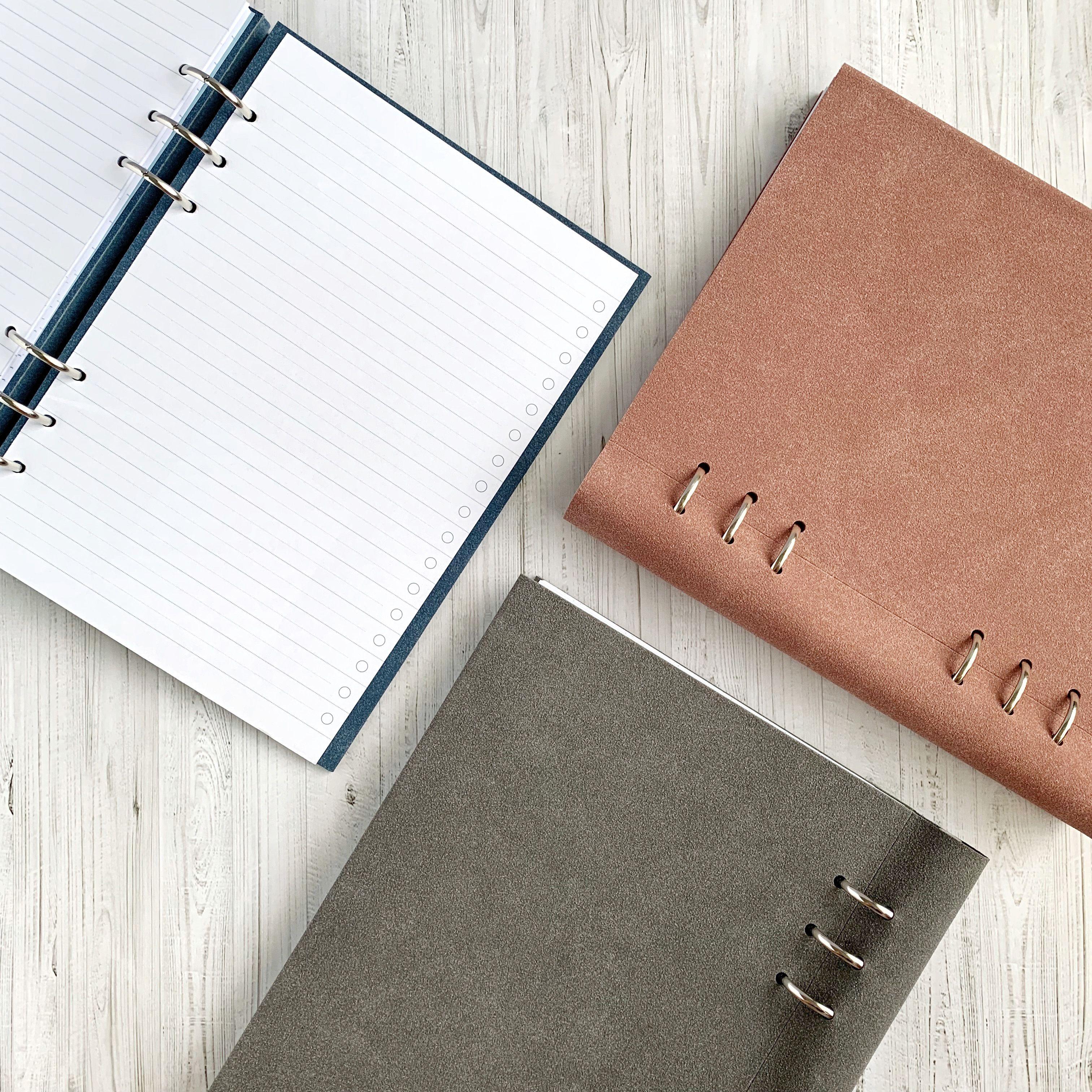 Agenda Clipbook Architexture cu inel si rezerve A5 Concrete FILOFAX