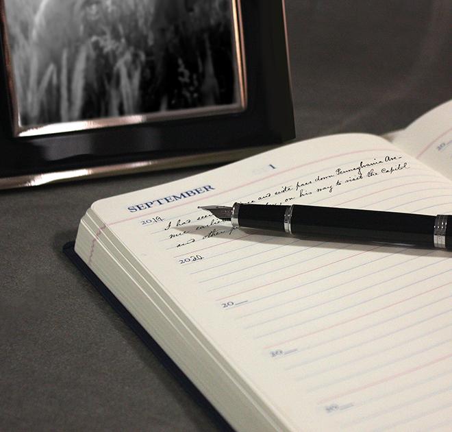 Agenda A5, tip jurnal, multianuala Black LETTS