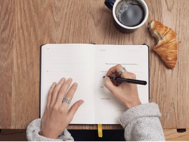 Agenda Notebook A4 Lecassa Black LETTS