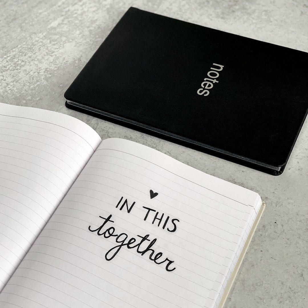 Agenda Notebook A6 Dazzle Black LETTS