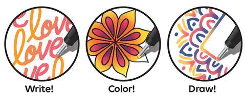 Set 12 fineliner cu schimbare tonalitate Designer CHAMELEON PENS